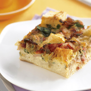 Bacon and Pepper Bread Pudding