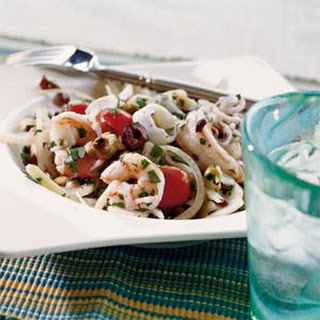 Italian Shrimp, Scallop, and Calamari Salad Recipe