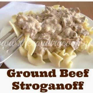 Ground Beef Stroganoff.
