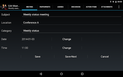Meeting Minutes Trial- screenshot thumbnail