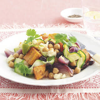 Roasted Vegetable and Chickpea Salad.