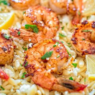 One Pot Orzo with Shrimp and Feta Recipe