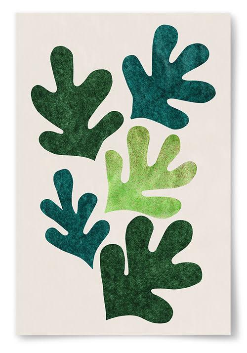 Poster Målade Löv