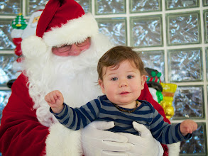 Photo: Everett met Santa for the very first time!