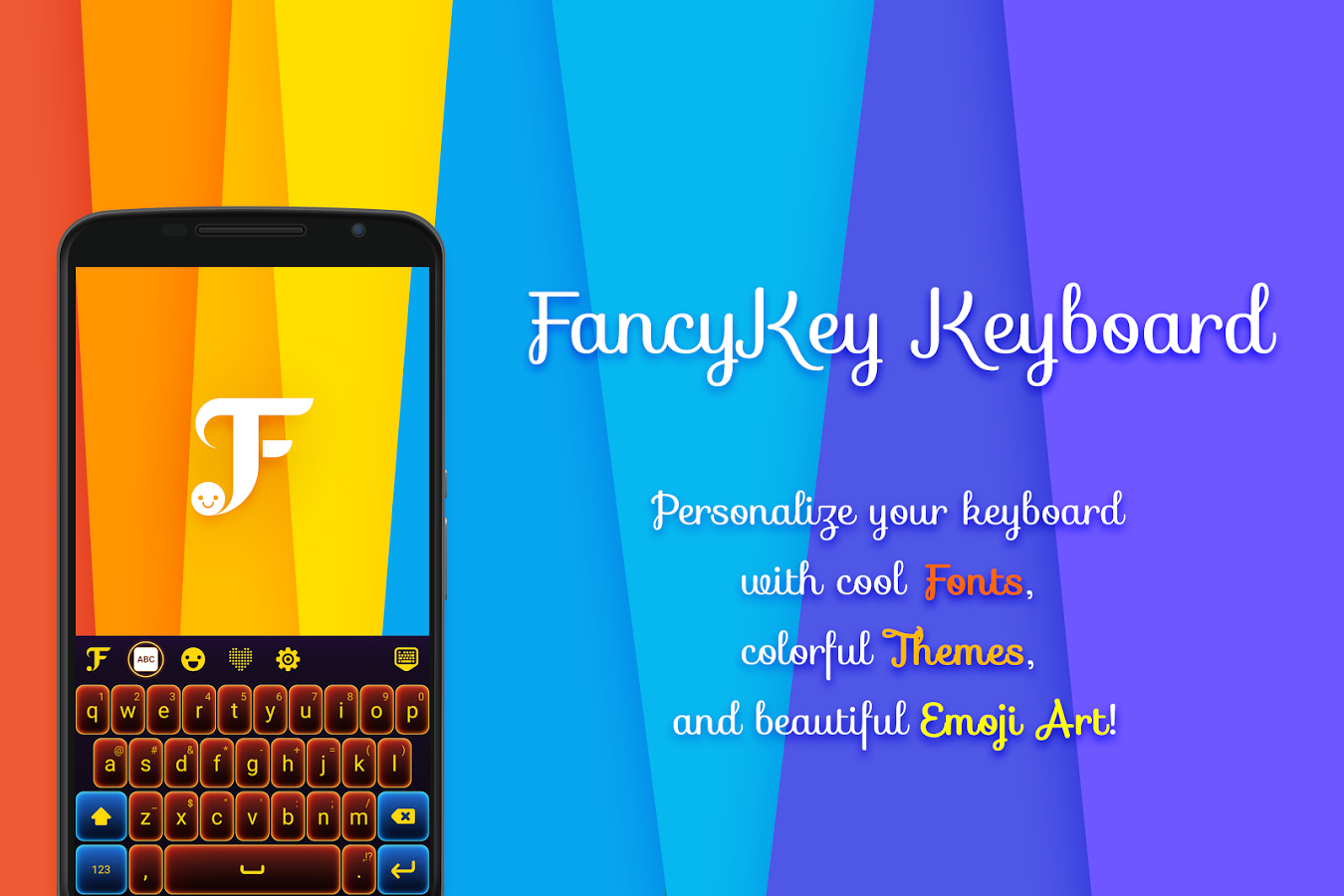 FancyKey Keyboard Cool Fonts Emoji GIF Sticker Android Apps