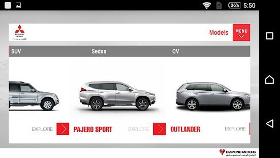 Mitsubishi Motors Egypt- screenshot thumbnail
