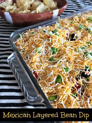 {Not Your Average} Mexican Layered Dip