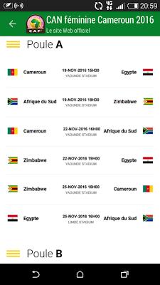 AWCON Cameroon 2016 - screenshot