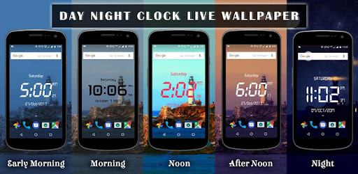 Приложения в Google Play – Day <b>night</b> changing clock live wallpaper
