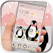 Kawaii penguin cartoon