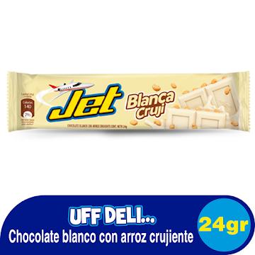 Chocolatina JET Blanca   con Arroz Crujiente x24g