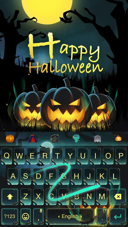 Happy Halloween Keyboard Theme- screenshot