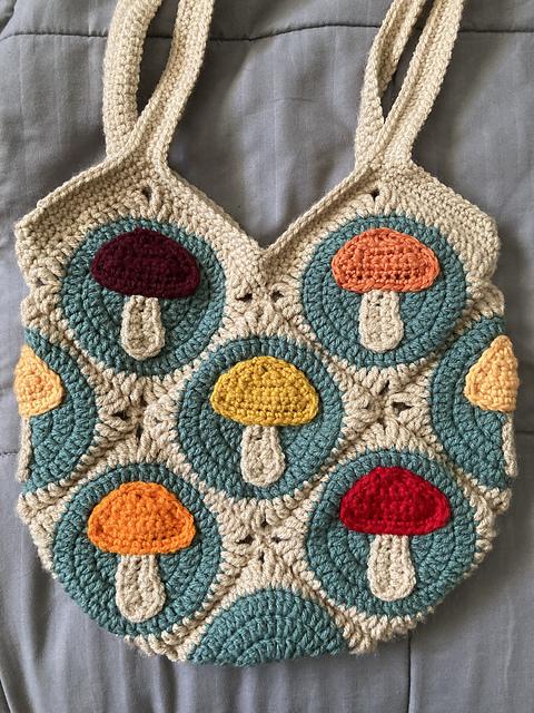 Mushroom Tote Bag Crochet pattern