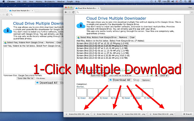 Multiple file download.