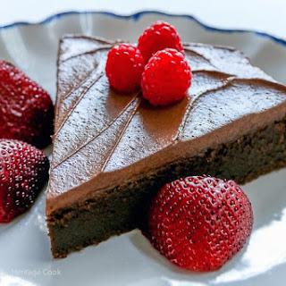 Dark Chocolate Bourbon Cake with Whipped Ganache Frosting (Gluten-Free) Recipe