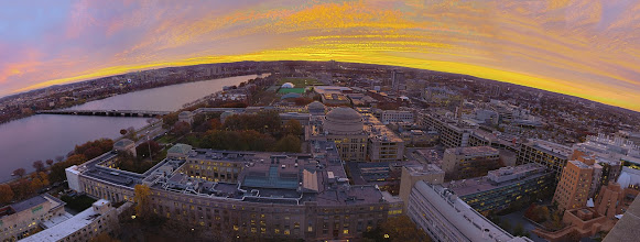 Photo: Scenes from around campus at the Massachusetts Institute of Technology, including the Baker Library, student lounge, Stata Student Center, and arial views from Building 57. Photo by Dominick Reuter for MIT News.