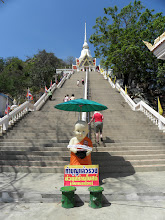 Photo: I can't believe we climbed those stairs in that heat/humidity