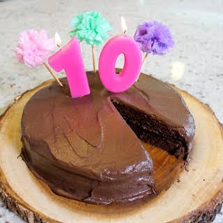 Vegan Sugar & Gluten Free Chocolate Birthday Cake.