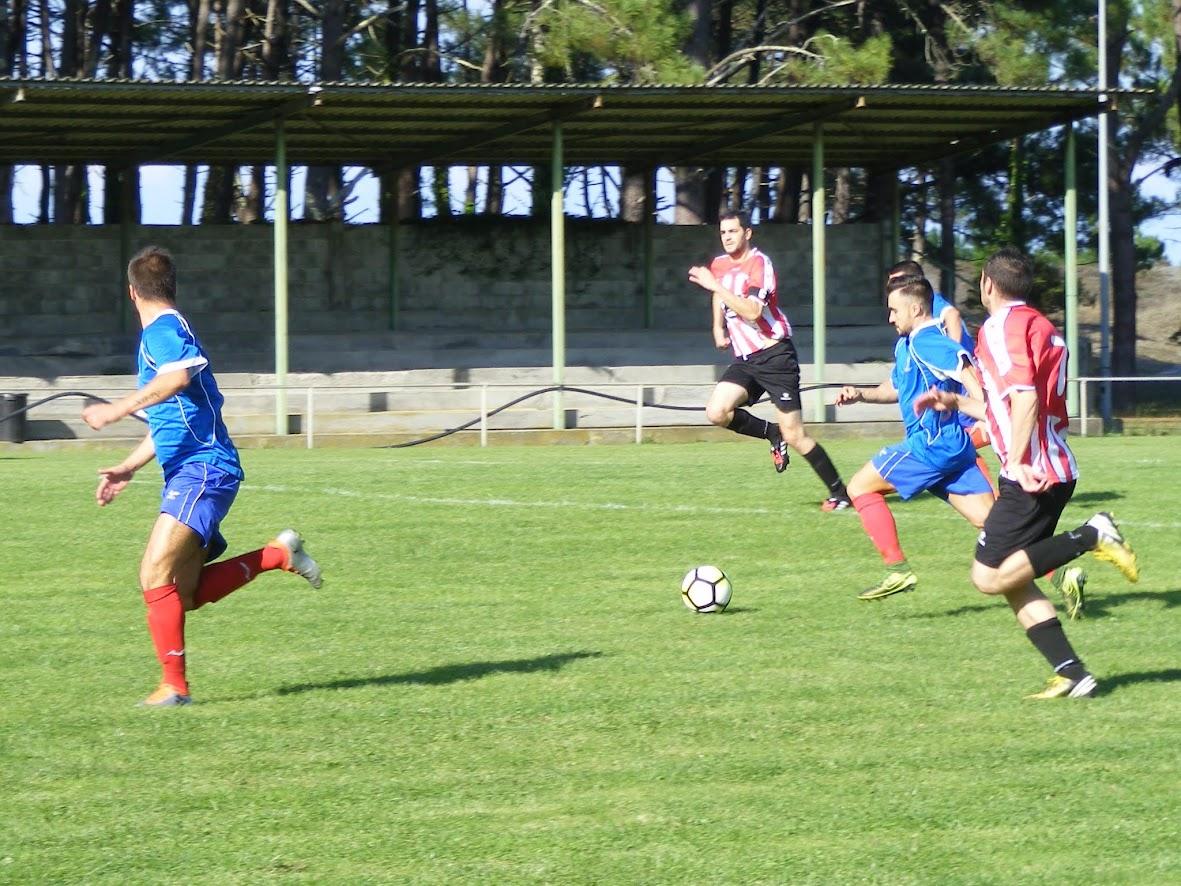 ADR Numancia de Ares.  Aficionados 2016-2017. 1ª Fase Liga. Morouzos. 09/10/2016 Ortigueira, 3 - Numancia, 1.