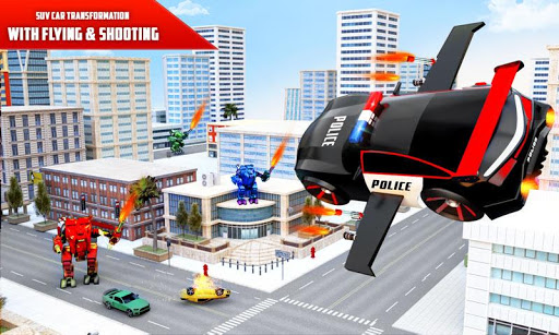 Flying Police SUV Robot Car Driving: Robot Games ss1