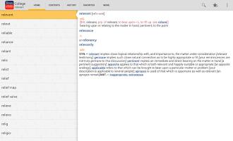 Screenshot of Webster's College DictionaryTR