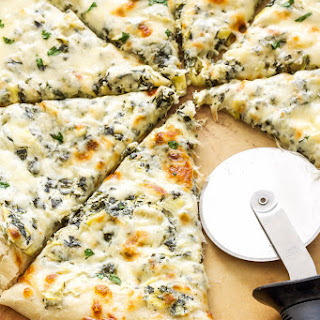 Spinach and Artichoke Dip Pizza.