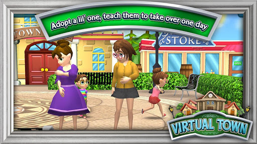 Télécharger Gratuit Virtual Town  APK MOD (Astuce) screenshots 1