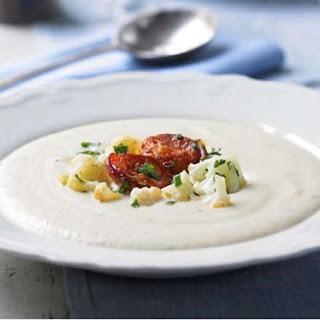 Potage Dubarry with Crisp Chorizo (Creamy Cauliflower Soup) Recipe