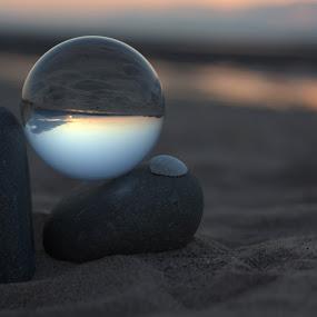 Glass ball by Nick Hogg - Artistic Objects Glass ( sand, glass, rocks, shell, beach, stones )