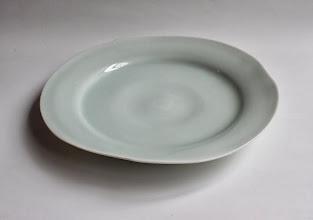 Photo: 青白磁 波の6寸皿