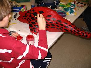 Photo: A student's papier mache project.
