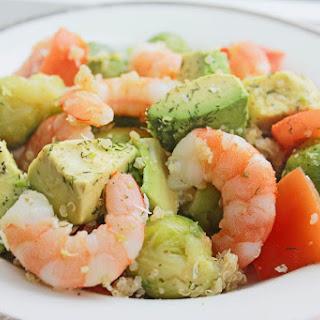 Shrimp Avocado Quinoa Bowl.
