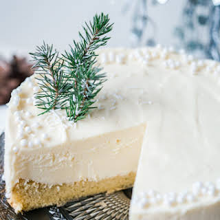 White Christmas Truffle Cake.