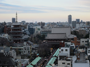 Photo: Five-storied pagoda and Kannon Temple