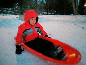 Photo: Clark Learns to Steer a Sled