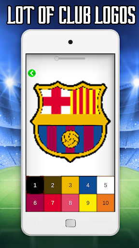 Download Football Logo Color By Number Soccer Pixel Art
