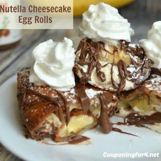 Nutella Banana Cheesecake Egg Rolls.