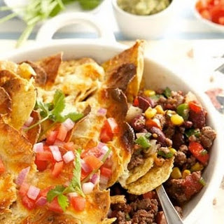 Low-fat Ostrich Topped With Nachos.