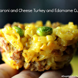 Macaroni and Cheese Turkey and Edamame Cups Recipe + WIN 25,000 Box Tops for Your School.