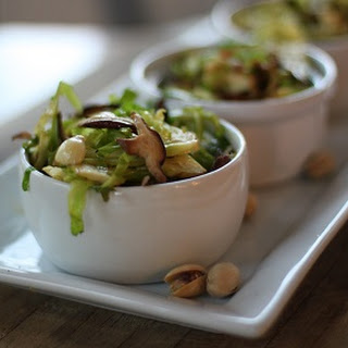 Shaved Brussel Sprouts with Crushed Pistachios