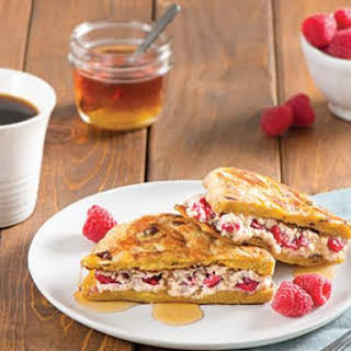 Raspberry and Ricotta Stuffed French Toast Pitas.