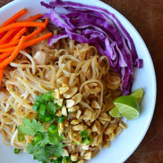 Easy Pad Thai with Chicken.