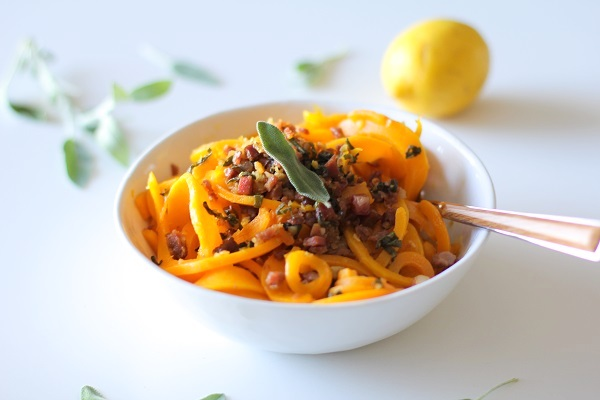 ... Squash and Prosciutto Pasta with Lemon Garlic and Sage Recipe | Yummly