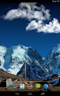 3d Parallax Weather Live Wallpaper For Android Os In High Mountains Apps On Google Play