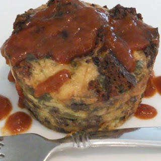 Savory Bread Pudding With Demi-Glaze Drizzle