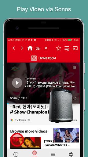 SonosVideo - Sonos Local/Cloud/Web Video 1.1.3 screenshots 1
