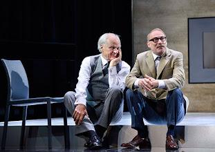 """Photo: WIEN/ Theater in der Josefstadt: """"VOR SONNENUNTERGANG"""" von Gerhard Hauptmann. Premiere 3.9.2015. Michael König, Andre Pohl. Copyright: Barbara Zeininger"""