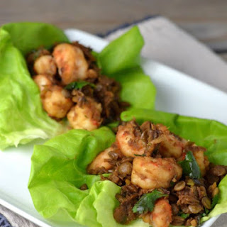 Shrimp Lentil Lettuce Wraps.