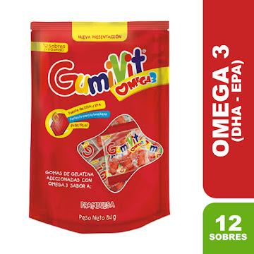 Gumivit Omega 3   Frambuesa Bolsa X 12 Minipacks