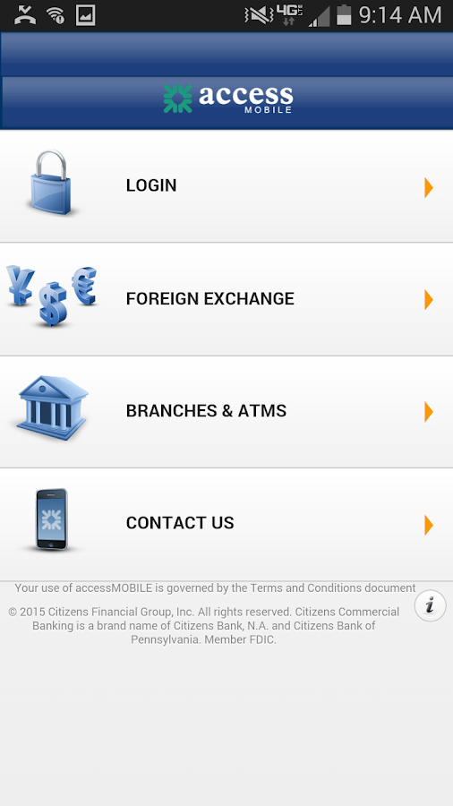 accessMOBILE by Citizens- screenshot